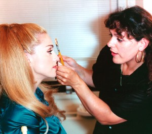 Laura Mercier con Madonna