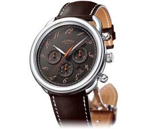 Hermès - Reloj en acero y correa suave de becerro