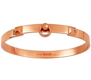 Hermès - Brazalete Collier de Chien en oro rosa